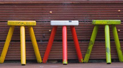 Wonkhe Three Three-Legged Stools