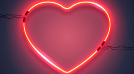 Wonkhe neon heart
