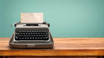 Wonkhe typewriter
